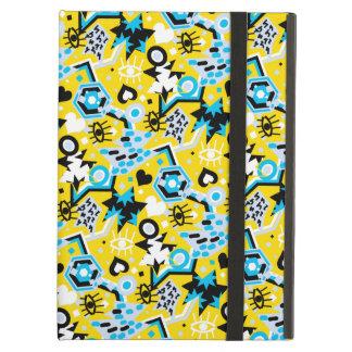 Eye heart pop art cool bright yellow pattern case for iPad air