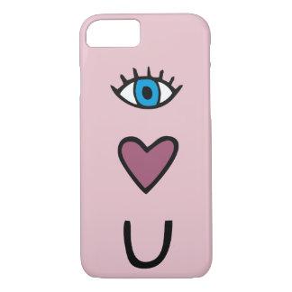 Eye, Heart, U - I love you phone case