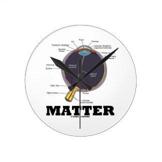 Eye (I) Matter (Anatomical Human Eyeball) Round Clock
