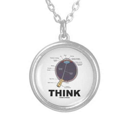 Eye (I) Think (Anatomical Humor) Custom Necklace