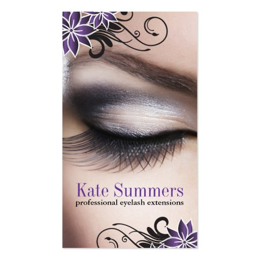 Eye Lash Extensions Business Cards