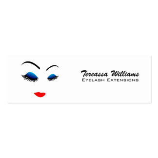 Eye Lash Extensions Skinny Business Cards