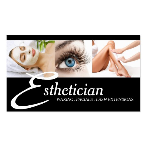 Eye Lashes Extensions Wax Facials Spa Salon Beauty Business Cards
