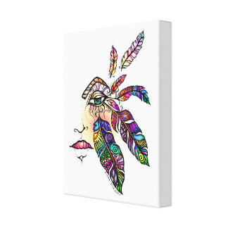 EYE Love FEATHERS Fantasy Art Canvas Print