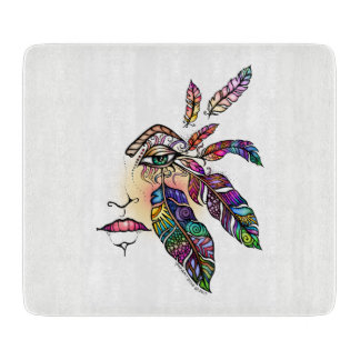 EYE Love FEATHERS Fantasy Art Cutting Board