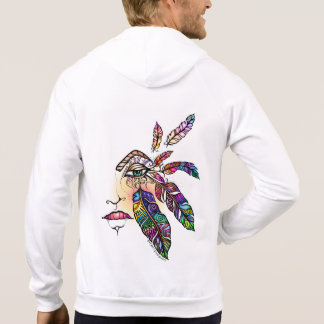 EYE Love FEATHERS Fantasy Art Hoodie