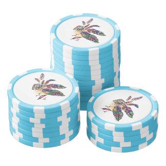 EYE Love FEATHERS Fantasy Art Poker Chips