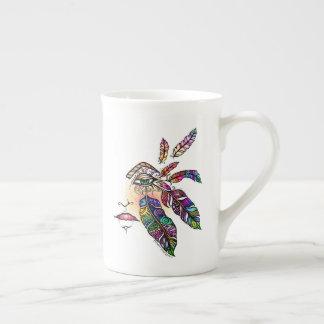 EYE Love FEATHERS Fantasy Art Tea Cup