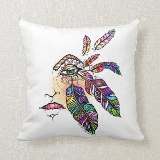 EYE Love FEATHERS Fantasy Art Throw Pillow