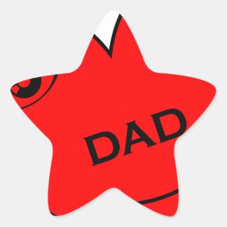 Eye Love My Dad Star Sticker