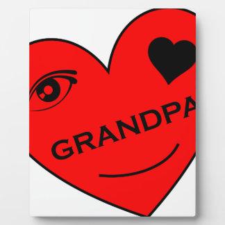 Eye Love My Grandpa Display Plaque