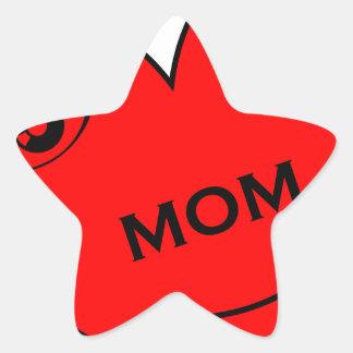 Eye Love My Mom Star Sticker