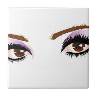 Eye make up 3 small square tile