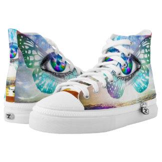 Eye Mind Zipz High Top Shoes Printed Shoes