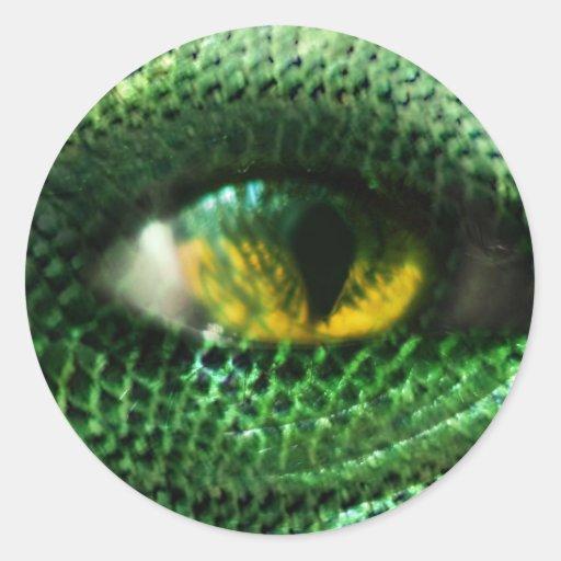 Eye of a.. round sticker
