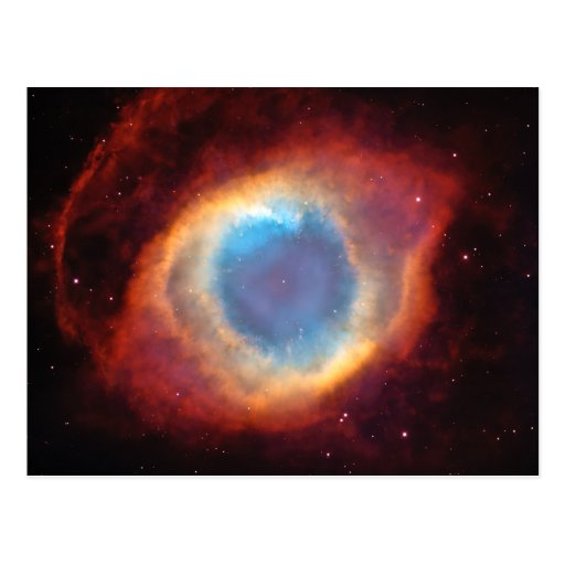 Eye of God Helix Nebula Cosmic Red Blue Clouds Post Cards