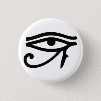 eye of horus 3 cm round badge