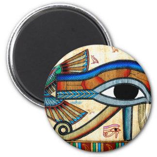 EYE OF HORUS Egyptian Art History Series 6 Cm Round Magnet