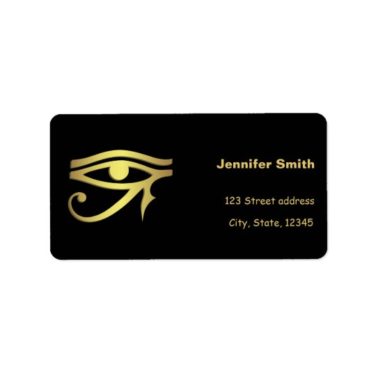 Eye of horus Egyptian symbol Label
