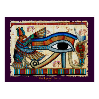 EYE OF HORUS Egyptian Wadjet Art Poster