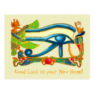 Eye of Horus Good Luck postcard