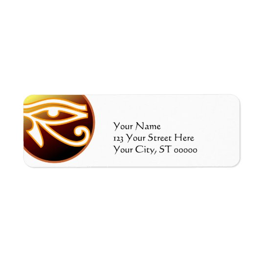 Eye of Horus Return Address Label