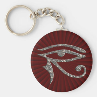 Eye Of Horus - SILVER Basic Round Button Key Ring