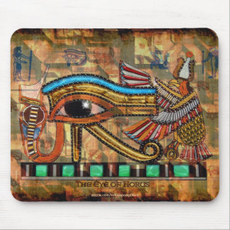 EYE OF HORUS, WADJET Egyptian Art Mousepad