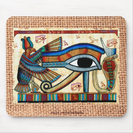 EYE OF HORUS, WADJET Egyptian Mousepad