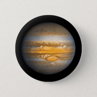 Eye of Jupiter Planet from Outer Space 6 Cm Round Badge