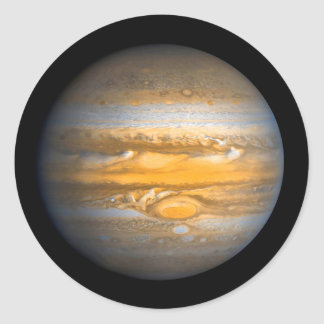 Eye of Jupiter Planet from Outer Space Classic Round Sticker