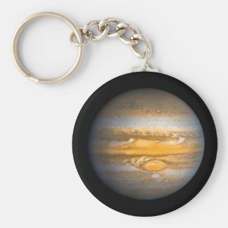 Eye of Jupiter Planet from Outer Space Key Ring