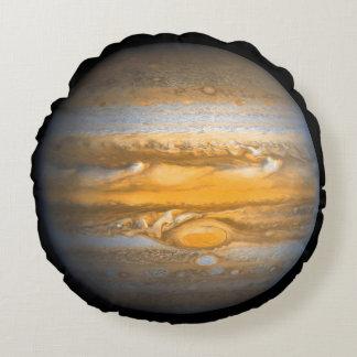Eye of Jupiter Planet Globe Round Round Cushion