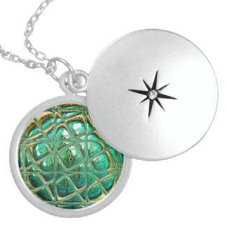Eye of lizard locket necklace