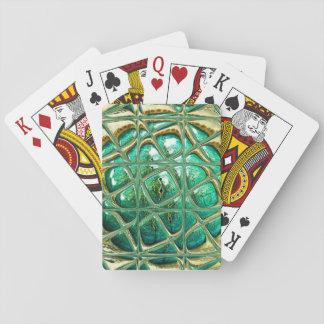 Eye of lizard playing cards