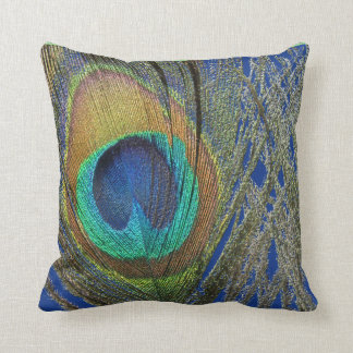Eye of Peacock Feather Designer Pillow