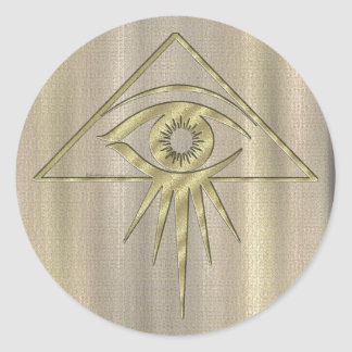 Eye of Providence Goldtone Stickers