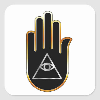 Eye of Providence in hand- religious symbol Square Sticker