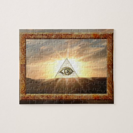 Eye of Providence Sunburst Jigsaw Puzzle