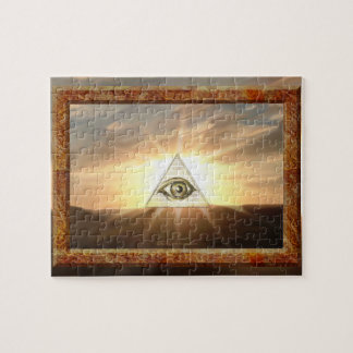 Eye of Providence Sunburst Puzzle