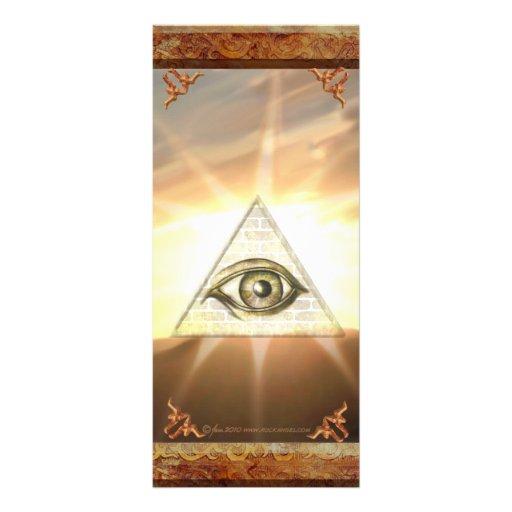 Eye of Providence Sunburst Rackcard Custom Rack Card