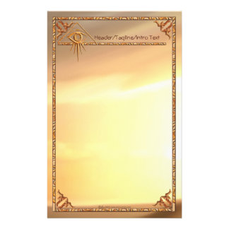 Eye of Providence Sunburst Stationary Stationery
