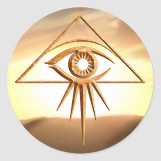Eye of Providence Sunburst Stone Stickers