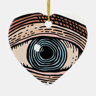Eye of Providence (transparent) Ceramic Ornament