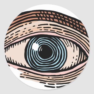Eye of Providence (transparent) Classic Round Sticker