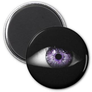 Eye of Purple Cute Cool Eyeball Design 6 Cm Round Magnet