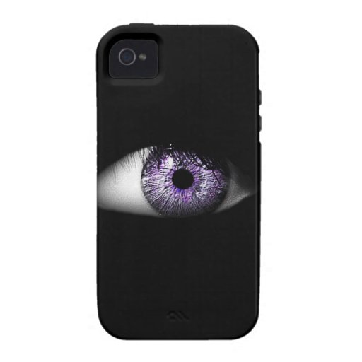 Eye of Purple Cute Cool Eyeball Design Case For The iPhone 4