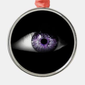 Eye of Purple Cute Cool Eyeball Design Metal Ornament