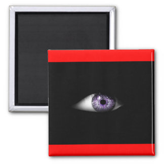 Eye of Purple Cute Cool Eyeball Design Square Magnet