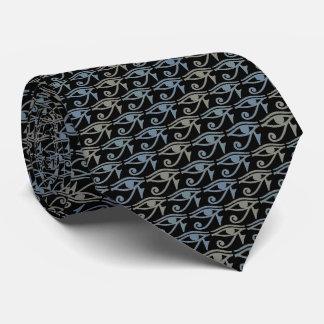 Eye Of Ra Horus Tie Armani Grey On Black